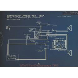Chevrolet 490 Schema Electrique 1919 Eutolite Remy