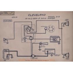 Cleveland Six 6volt Schema Electrique 1919 Gray & Davis V2