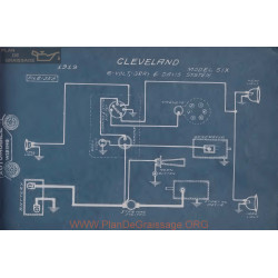 Cleveland Six 6volt Schema Electrique 1919 Gray & Davis
