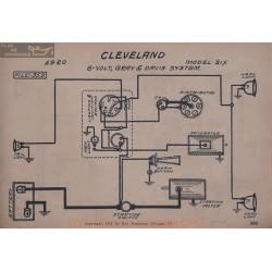 Cleveland Six 6volt Schema Electrique 1920 Gray & Davis V2
