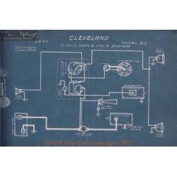 Cleveland Six 6volt Schema Electrique 1920 Gray & Davis