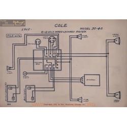 Cole 30 40 12volt 6volt Schema Electrique 1912 Ward Leonard
