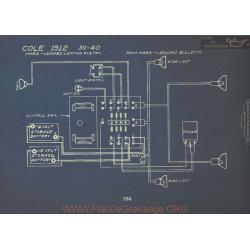 Cole 30 40 Schema Electrique 1912 Ward Leonard