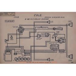 Cole 4 40 50 60 6volt 24volt Schema Electrique 1913 Delco V2