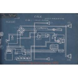 Cole 4 40 50 60 6volt 24volt Schema Electrique 1913 Delco