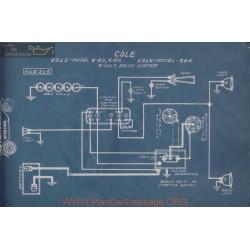 Cole 4 40 50 666 6volt Schema Electrique 1915 1916 Delco