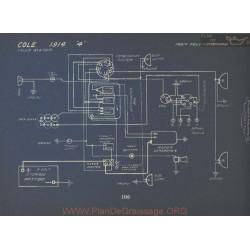 Cole 4 Schema Electrique 1914 Delco