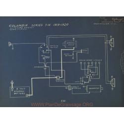 Columbia 7w Schema Electrique 1919 1920 Autolite