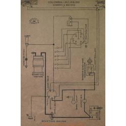 Columbia Schema Electrique 1917 1918 1919 Robbins& Meyers