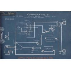 Commonwealth 4 40 6volt Schema Electrique 1919 1920 Dyneto