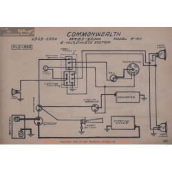 Commonwealth 42 4 40 6volt Schema Electrique 1919 1920 Dyneto