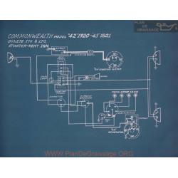 Commonwealth 42 Schema Electrique 1920