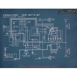 Crawford 6 40 Schema Electrique 1916 1917
