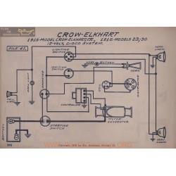 Crow Elkhart 23 Jr 30 12volt Schema Electrique 1915 1916 Disco