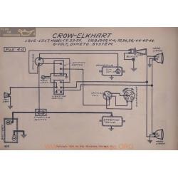 Crow Elkhart 33 35 Ce Kh 32 34 36 44 42 46 6volt Schema Electrique 1916 1917 1918 1919 1920 Dyneto