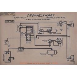 Crow Elkhart Ce 30 33 6volt Schema Electrique 1916 1917 Dyneto ver2
