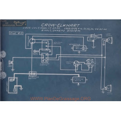 Crow Elkhart Ce 35 33 36 44 42 46 6volt Schema Electrique 1916 1917 Dyneto