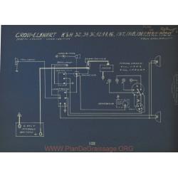 Crow Elkhart K H 32 34 36 42 44 46 H L Schema Electrique 1917 1918 1919 1920 Dyneto