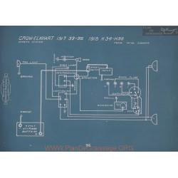 Crow Elkhart K34 K36 Schema Electrique 1918