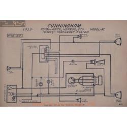 Cunningham M Ambulance Hearse 16volt Schema Electrique 1913 Norheast