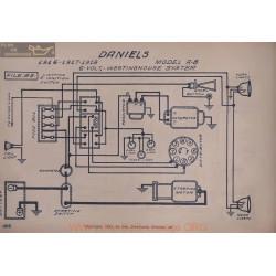 Daniels A B 6volt Schema Electrique 1916 1917 1918 Westinghouse