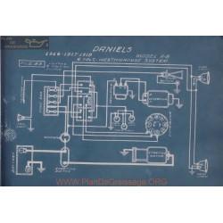 Daniels A8 6volt Schema Electrique 1916 1917 1918 Westinghouse