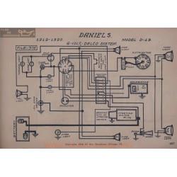 Daniels D19 6volt Schema Electrique 1919 1920 Delco
