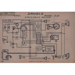 Daniels D19 6volt Schema Electrique 1921 Delco