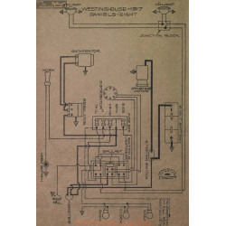 Daniels Eight Schema Electrique 1917 Westinghouse