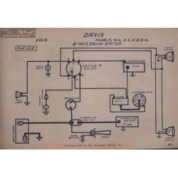 Davis 6h 6i 6j 6k 6volt Schema Electrique 1919 Delco