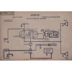 Davis 6h 6i 6k 6volt Schema Electrique 1917 1918 Delco V2