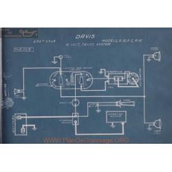 Davis 6h 6i 6k 6volt Schema Electrique 1917 1918 Delco