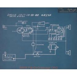 Davis 6h 6i 6k Schema Electrique 1917 1918 1919 1920