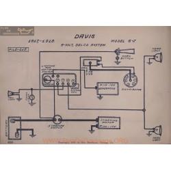 Davis 6j 6volt Schema Electrique 1917 1918 Delco V2