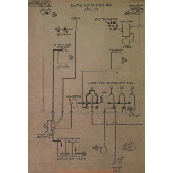 Davis 6j Schema Electrique 1917 1918 1919 Delco