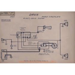 Davis C38 6e 6g 6volt Schema Electrique 1916 Delco V2