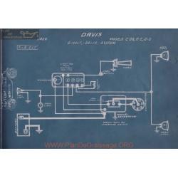 Davis C38 6e 6g 6volt Schema Electrique 1916 Delco
