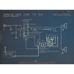 Davis C38 6e 6g Schema Electrique 1916 Delco