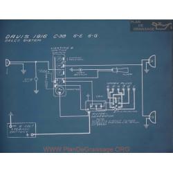 Davis C38 6e 6g Schema Electrique 1916