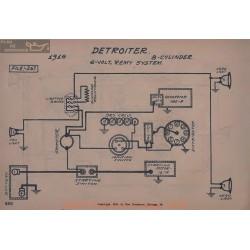 Detroiter 8cyl 6volt Schema Electrique 1916 Remy