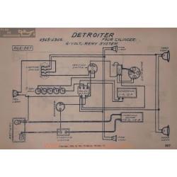 Detroiter Four Cyl 6volt Schema Electrique 1915 1916 Remy