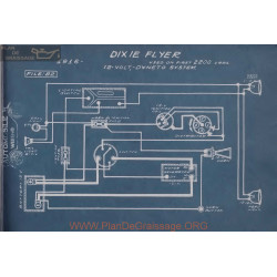 Dixie Flyer 2200 12volt Schema Electrique 1916 Dyneto