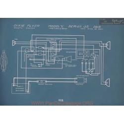 Dixie Flyer L 35 Schema Electrique 1918