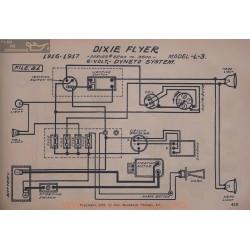 Dixie Flyer L3 6volt Schema Electrique 1916 1917 Dyneto V2