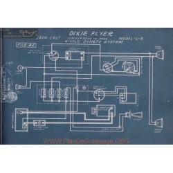 Dixie Flyer L3 6volt Schema Electrique 1916 1917 Dyneto