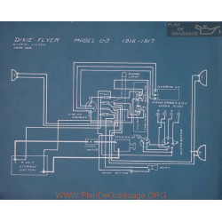 Dixie Flyer L3 Schema Electrique 1916 1917