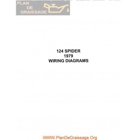 Fiat 124 Spider 1979 Wiring Diagrams - Plan de Graissage