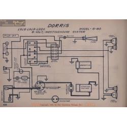 Dorris 6 80 6volt Schema Electrique 1918 1919 19220 Westinghouse