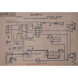Dorris 6 80 6volt Schema Electrique 1921 Westinghouse