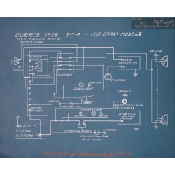 Dorris Early Models Schema Electrique 1919